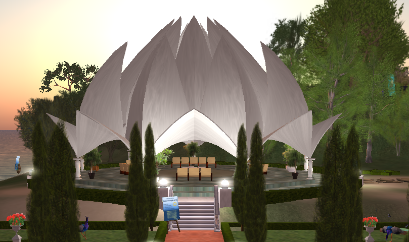 Baha'i Lotus Temple of Second Life
